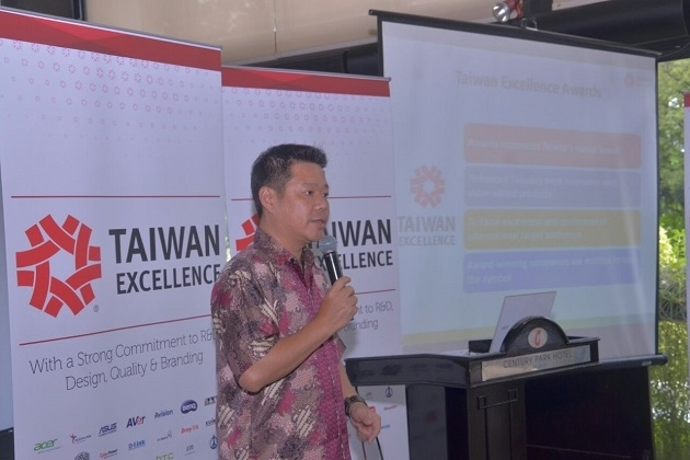Gelaran Taiwan Excellence Press Conference di Hotel Atlet Century Park, Jakarta